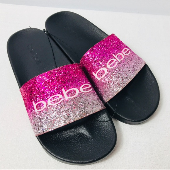 0bebe9ba80c3 Bebe women s sandals black   pink slides